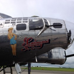 B 17 Flying Fortress From the Cockpit