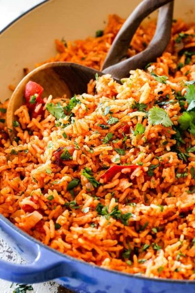 BEST EVER Restaurant-Style Mexican Rice (tips and tricks!)