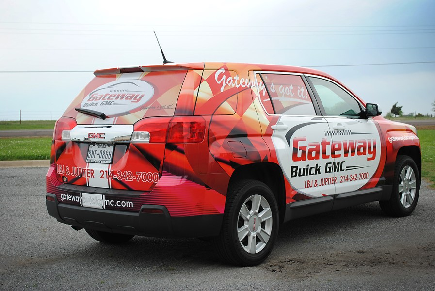 Gateway Buick GMC  SUV Full Wrap   Car Wrap City GMC SUV Full printed wrap