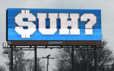 LOOK: Lions fans put up '$UH' billboards around Detroit - CBSSports.com