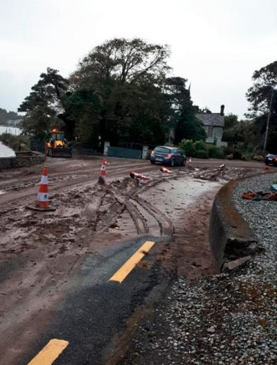 Pictured: Locals wake up to mudslide after Storm Callum hits overnight - Independent.ie