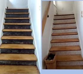 Stair Risers + Wallpaper Border | Hometalk