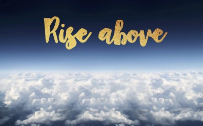 Rise aBove [Wallpaper design #1] – Sheeps are white cows – Medium