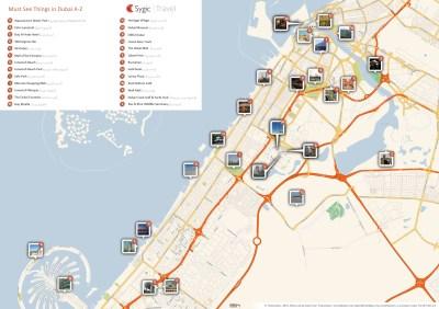 UAE Dubai Metro City Streets Hotels Airport Travel Map Info: Details Burj Al Arab Hotel Dubai ...