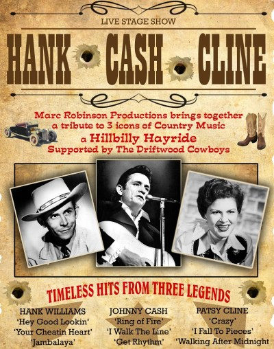 Hank, Cash & Cline | PLAYHOUSE Whitely Bay