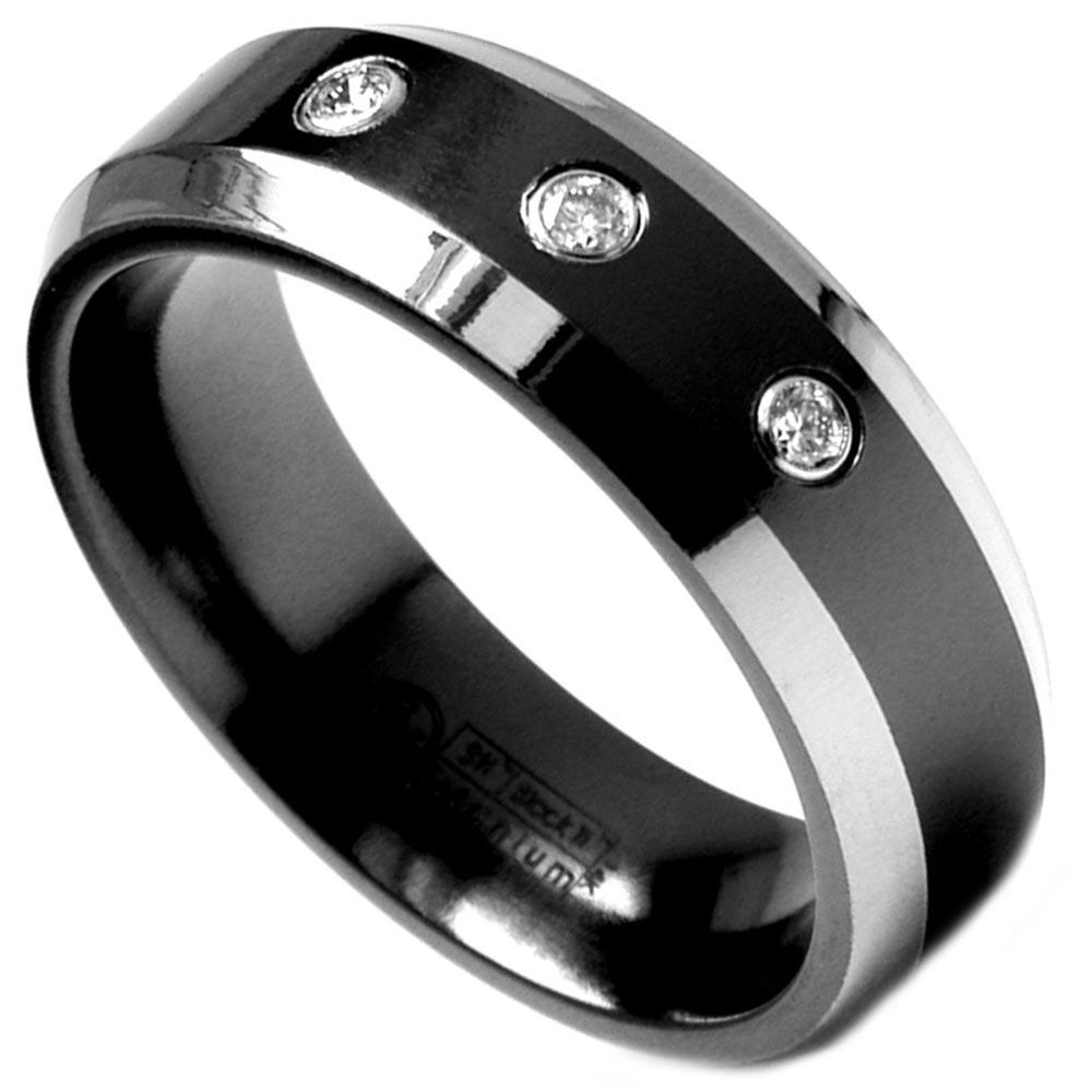 black mens wedding rings