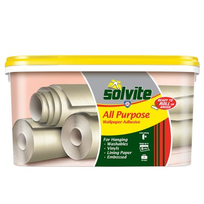 Solvite Ready to Roll Wallpaper Adhesive 5 Roll Pack | Decorating