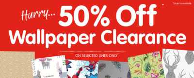 Wallpaper Clearance & Sale | Cheap Wallpaper & Decorating Offers