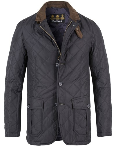 Barbour Lifestyle Quilted Lutz Jacket Navy hos CareOfCarl.com
