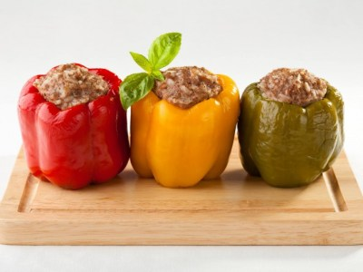 Pressure Cooker Stuffed Bell Peppers Recipe from CDKitchen