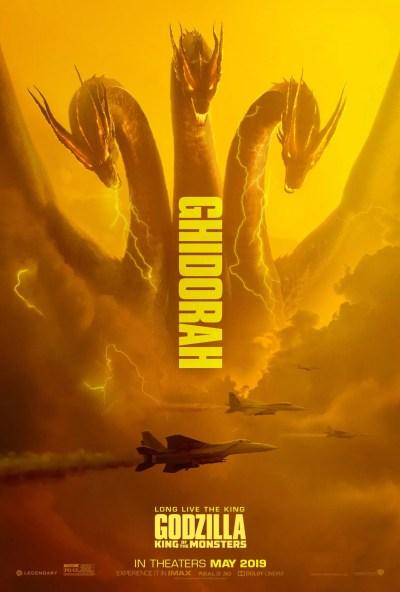 Godzilla: King of the Monsters Posters Unleash Ghidorah & Mothra   Collider