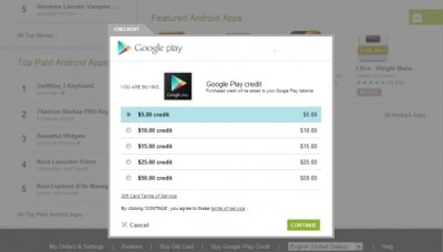 Cult of Android - Stop Searching For Google Play Gift Cards And Purchase Play Credit Directly ...