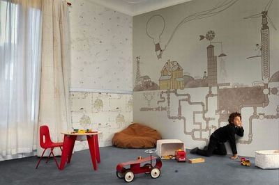 Wallpaper for the Kids Room by Tres Tintas Barcelona