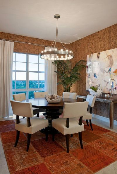 27 Splendid Wallpaper Decorating Ideas for the Dining Room