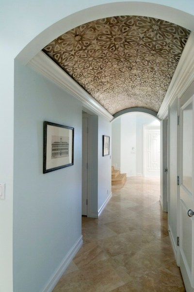 Wallpapered Ceiling - Eclectic - entrance/foyer