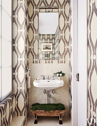 Phillip Jeffries Arches Wallpaper - Eclectic - bathroom ...