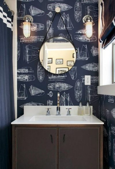 Nautical Boys Bathroom Design Ideas