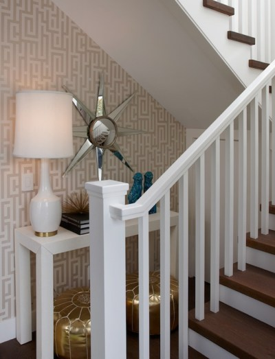 Under the Stairs Table - Contemporary - entrance/foyer - K Mathiesen Brown Design