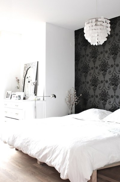 Wallpaper Accent Wall - Transitional - bedroom - My Scandinavian Home