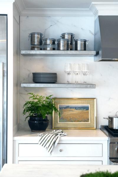 Kitchen Floating Shelf - Cottage - kitchen - Sage Design