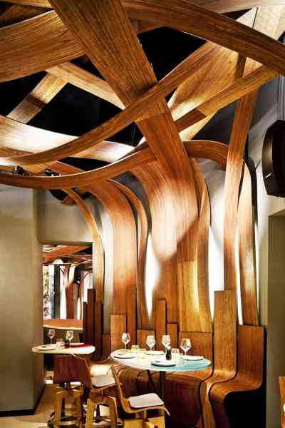 Top 5 - Restaurant Interior Designs with Wooden Walls ...