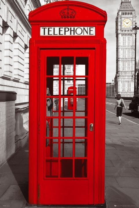 London   telephone box Poster   Sold at Europosters London   telephone box Poster