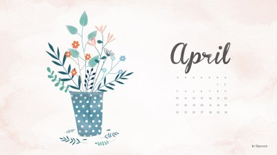April 2016 free calendar wallpaper – desktop background