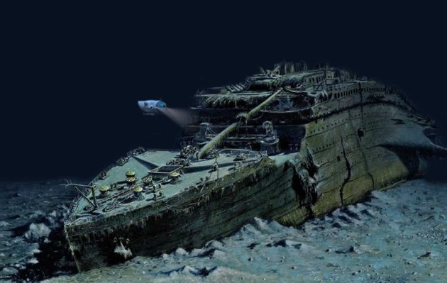 OceanGate reveals plan to send scientists to Titanic shipwreck in     An artist s conception shows OceanGate s Cyclops 2 submersible surveying  the wreck of the Titanic   Andrea Gatti Illustration for OceanGate  Expeditions