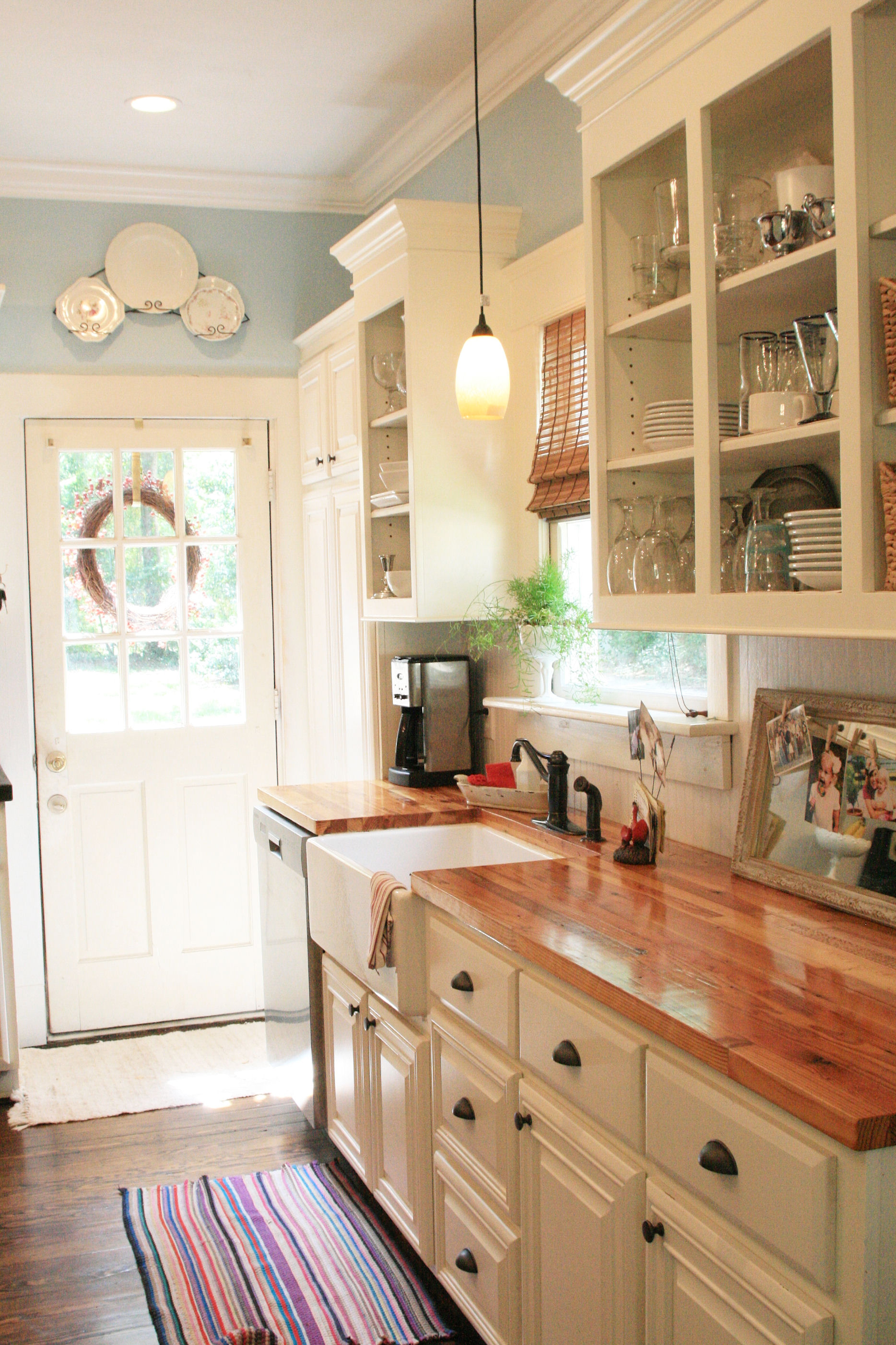best rustic country kitchen design ideas country kitchen ideas Wood Counters Add Warmth to a Clean White Kitchen