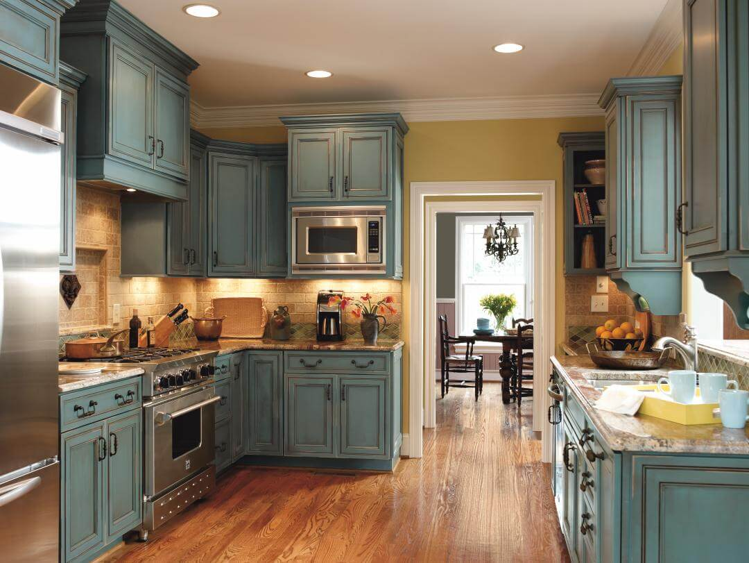 best rustic kitchen cabinets ideas rustic kitchen cabinets Mediterannean Blue Rustic Kitchen