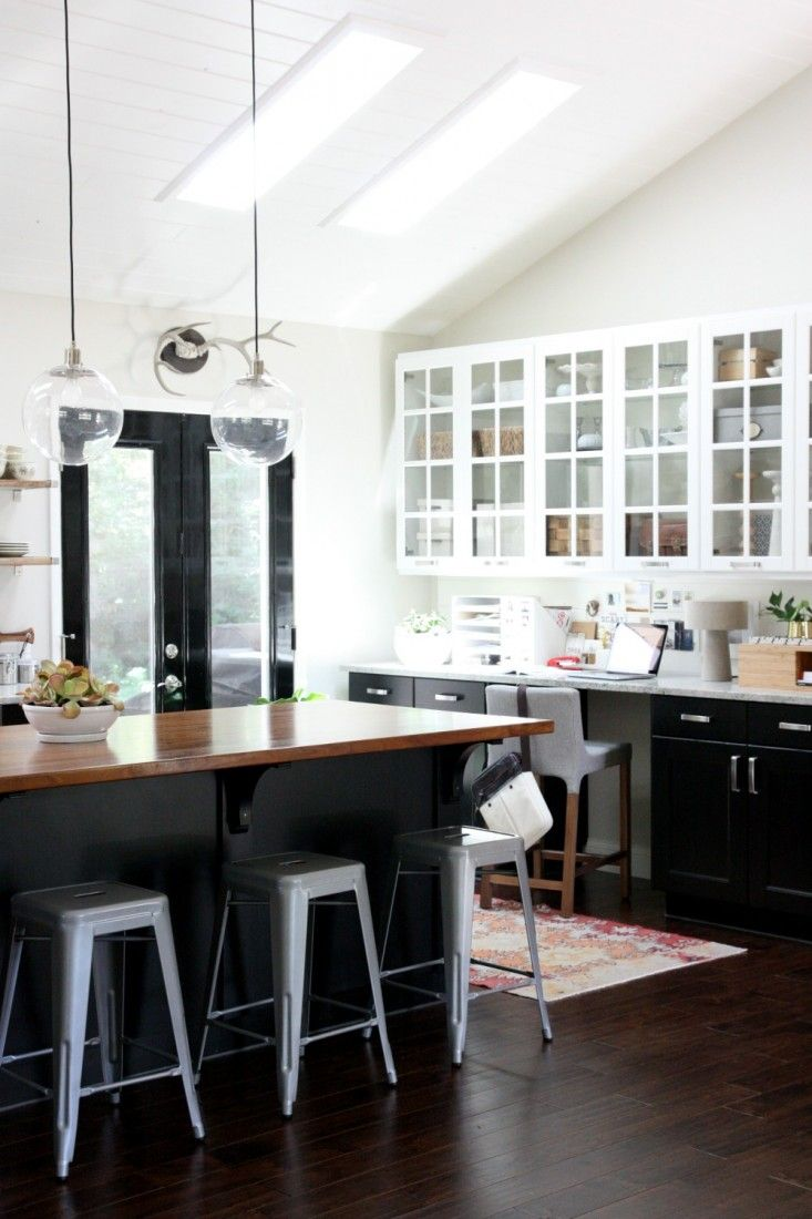 black kitchen cabinets kitchen floor cabinets Black with Glass
