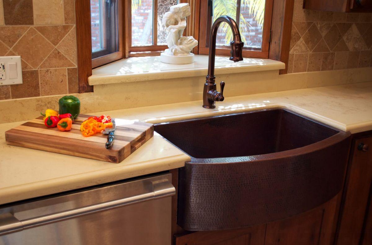 choose a copper farmhouse sink farmhouse kitchen faucet copper farmhouse sink and matching faucet
