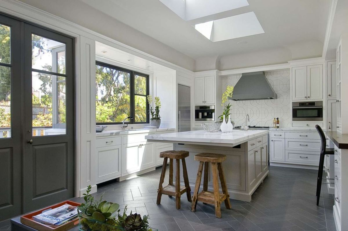 best options for kitchen flooring gray kitchen floor