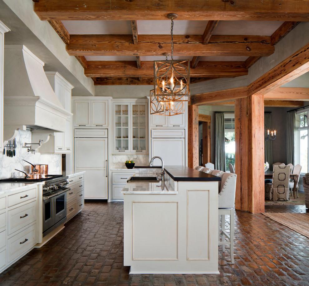 best options for kitchen flooring flooring for kitchen Brick floor kitchen