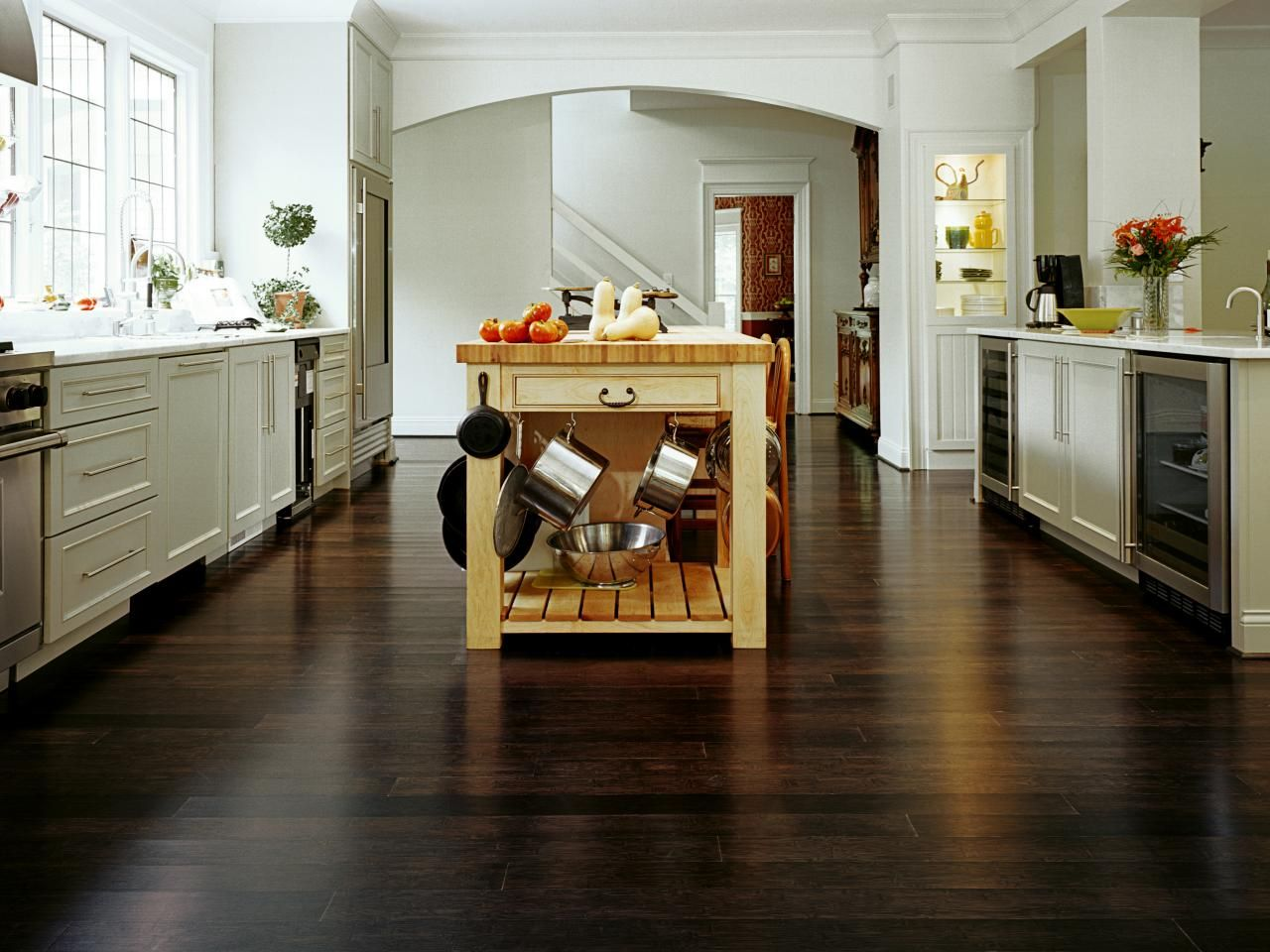 best options for kitchen flooring laminate flooring for kitchen Kitchen bamboo flooring option