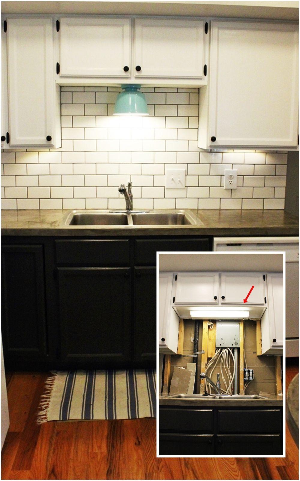 diy kitchen lighting upgrade under kitchen cabinet lights DIY Kitchen Lighting Upgrade LED Under Cabinet Lights Above the Sink Light
