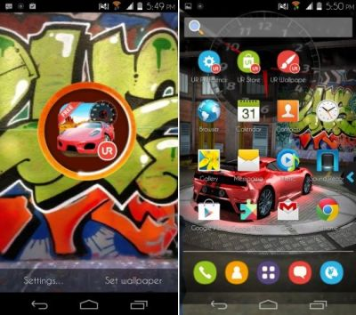 Android Launcher With 3D Live Wallpapers