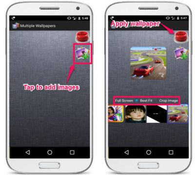How To Set Different Wallpapers For Each Home Screen In Android