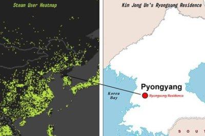 Steam heat map may show Kim Jong-un gaming in Pyongyang, North Korea   Daily Star