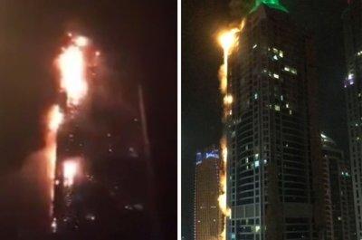 Dubai tower fire: Torch Tower skyscraper inferno as massive blaze rips through flats   Daily Star