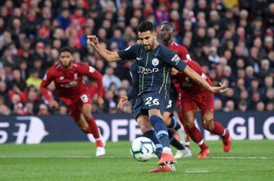 Liverpool 0 Manchester City 0: Riyad Mahrez fluffs penalty ...