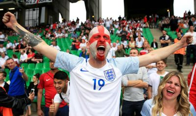 England fans celebrate as Three Lions reach Euro 2016 knockout stage | UK | News | Express.co.uk