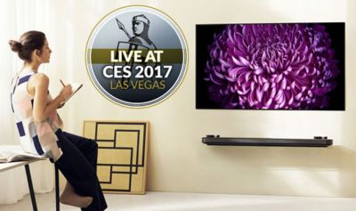 LG unveils new ultra thin W7 OLED 4K TV that sticks to rooms like wallpaper | Express.co.uk