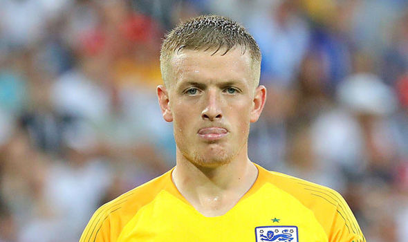 Jordan Pickford is England s weak link   Former Arsenal boss Arsene     England goalkeeper Jordan Pickford  Image  EPA