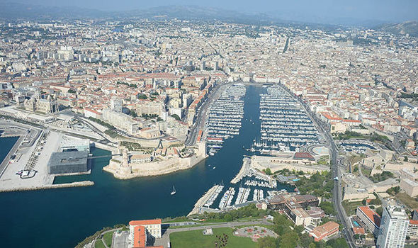 Marseille  explosions    Residents report suspected blasts in French     An aerial view of Marseille