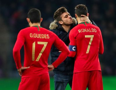 Cristiano Ronaldo: Fan tries to kiss Real Madrid ace in Portugal loss | Football | Sport ...