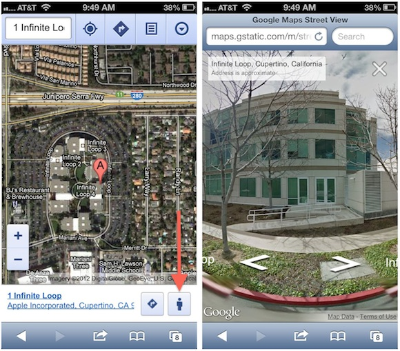 Google Adds Street View to Web Based Google Maps for Mobile Devices     Google Adds Street View to Web Based Google Maps for Mobile Devices   Mac  Rumors