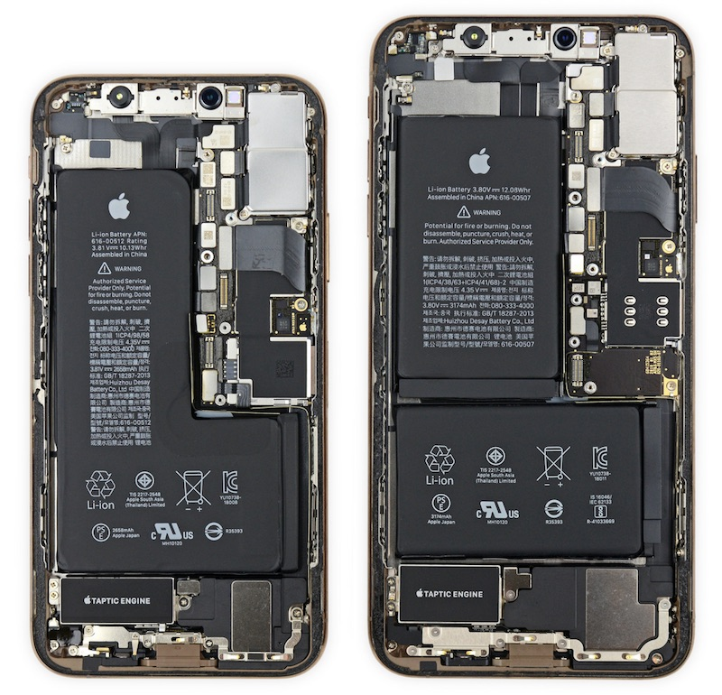 iFixit: iPhone XS Has 'Notched' Battery and iPhone XS Max Has Apple-Designed Power Management ...