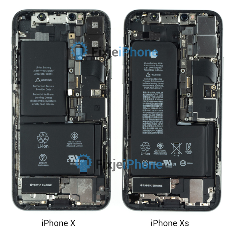 iPhone XS Teardown Reveals New Single-Cell L-Shaped Battery - MacRumors