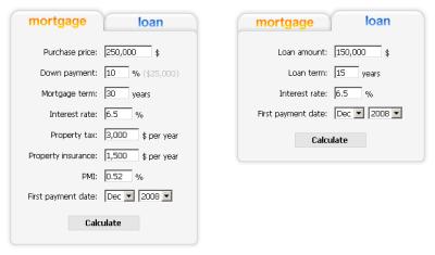 Free Mortgage Widgets